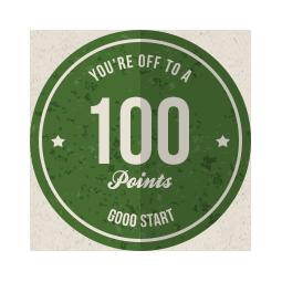 100 Point Badge